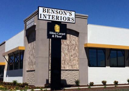 Benson's Interiors showroom