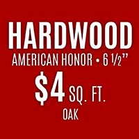 "Bruce Hardwood  American Honor  6 1/2""  $4 Square Foot  Hickory, Maple and Ash only"