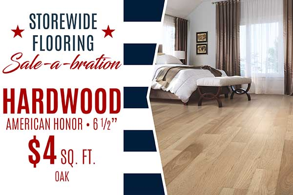 """Bruce Hardwood  American Honor  6 1/2""""  $4 Square Foot  Hickory, Maple and Ash only"""